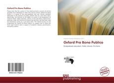 Capa do livro de Oxford Pro Bono Publico