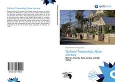 Bookcover of Oxford Township, New Jersey