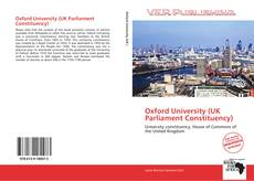 Bookcover of Oxford University (UK Parliament Constituency)