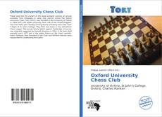 Bookcover of Oxford University Chess Club