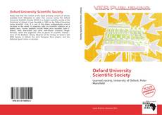 Bookcover of Oxford University Scientific Society