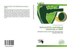 Capa do livro de Oxford UCCE and Oxford University in 2005