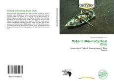 Обложка Oxford University Boat Club