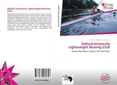 Capa do livro de Oxford University Lightweight Rowing Club