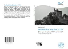 Oxfordshire Election 1754的封面