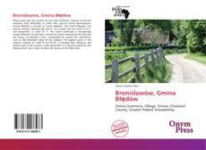 Bookcover of Bronisławów, Gmina Błędów