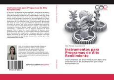 Buchcover von Instrumentos para Programas de Alto Rendimiento