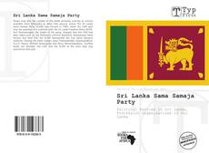 Capa do livro de Sri Lanka Sama Samaja Party