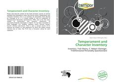 Bookcover of Temperament and Character Inventory