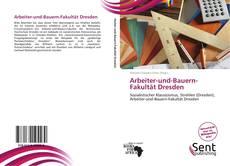 Portada del libro de Arbeiter-und-Bauern-Fakultät Dresden