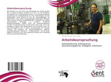 Bookcover of Arbeitsbeanspruchung