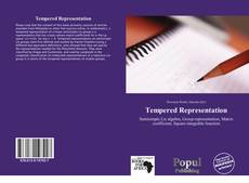 Tempered Representation kitap kapağı