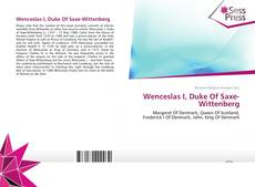 Wenceslas I, Duke Of Saxe-Wittenberg的封面