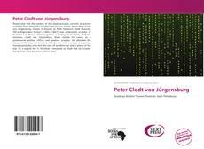 Bookcover of Peter Clodt von Jürgensburg