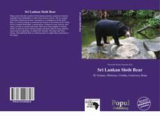 Sri Lankan Sloth Bear的封面