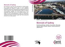 Couverture de Biennale of Sydney