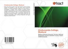 Bookcover of Vivekananda College, Madurai