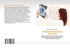 Bookcover of Arbeitsmedizinische Vorsorge