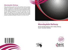 Capa do livro de Wensleydale Railway