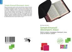 Portada del libro de Temple Emanuel (Davenport, Iowa)
