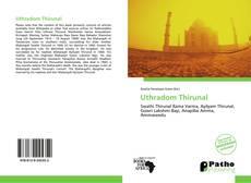 Buchcover von Uthradom Thirunal