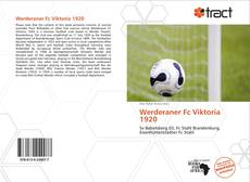 Bookcover of Werderaner Fc Viktoria 1920