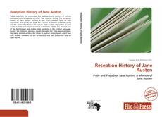 Bookcover of Reception History of Jane Austen