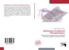 Couverture de Recherche et Industrie Thérapeutiques