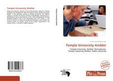 Portada del libro de Temple University Ambler