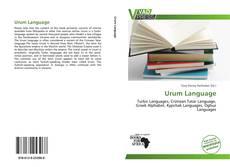 Обложка Urum Language