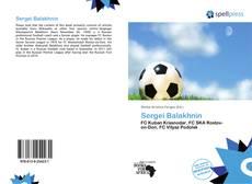 Couverture de Sergei Balakhnin