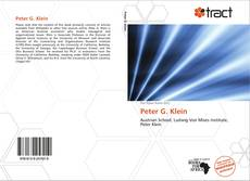 Bookcover of Peter G. Klein