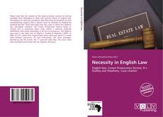 Bookcover of Necessity in English Law