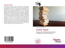 Buchcover von Archer Taylor