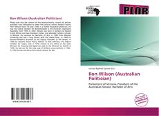 Copertina di Ron Wilson (Australian Politician)