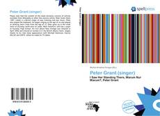 Bookcover of Peter Grant (singer)