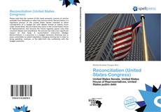 Bookcover of Reconciliation (United States Congress)