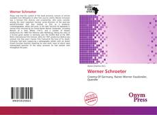 Bookcover of Werner Schroeter