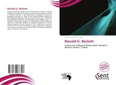 Bookcover of Ronald G. Beckett
