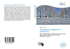 Buchcover von Temporary Capital of Lithuania