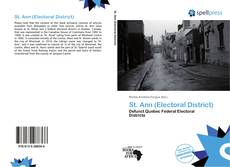 Capa do livro de St. Ann (Electoral District)