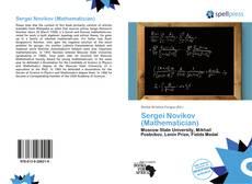 Bookcover of Sergei Novikov (Mathematician)