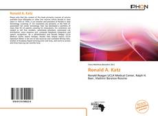 Bookcover of Ronald A. Katz