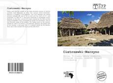 Cietrzewki-Warzyno kitap kapağı
