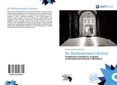 Portada del libro de St. Bartholomew's School