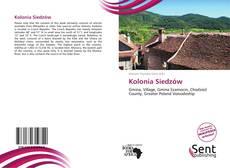 Buchcover von Kolonia Siedzów