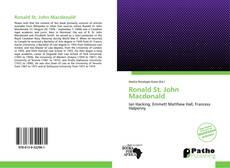 Bookcover of Ronald St. John Macdonald