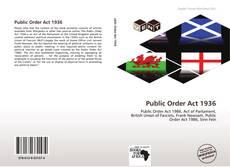 Public Order Act 1936 kitap kapağı