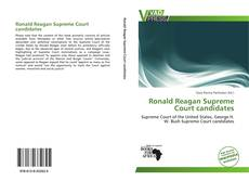 Bookcover of Ronald Reagan Supreme Court candidates