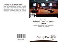 Bookcover of Tennessee Court of Criminal Appeals